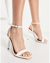 ASOS Nala - Sandales minimalistes à talon - Blanc