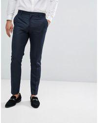 Jack & Jones Premium Skinny Tuxedo Suit Trousers - Blue