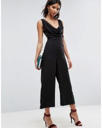 ASOS | Jumpsuit With Cowl Neck | Lyst