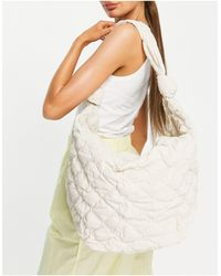 Mango Quilted Sling Bag - White