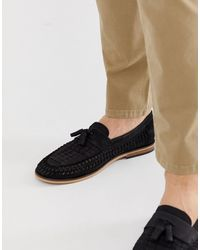 River Island Leather Woven Loafer - Black