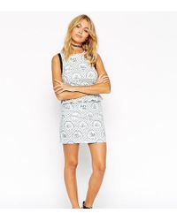 Reclaimed (vintage) - Asos Co-ord Pencil Skirt In Sailboat Print - Lyst