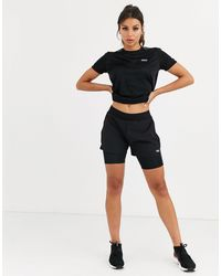 ASOS 4505 Icon Woven Run Shorts With Underlayer - Black