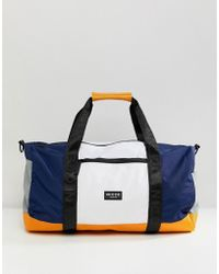 Nicce London - Nicce Logo Holdall With Logo Straps - Lyst