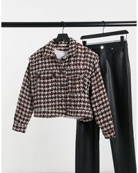 Pull&Bear Cropped Overshirt Co-ord - Multicolor