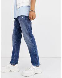 G-Star RAW – Radar – Gerade geschnittene Tapered-Jeans - Blau