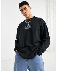 ASOS Oversized Long Sleeve T-shirt - Black