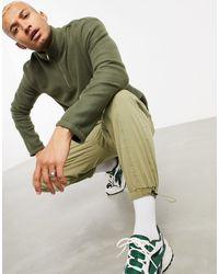 New Look Funnel Neck Fleece Sweat - Green