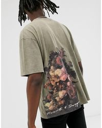 Heart & Dagger - Tee With Back Print - Lyst