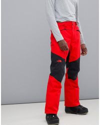 The North Face - Presena Snow Pant In Red - Lyst