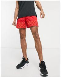 Nike Football Красные Тканые Шорты -красный