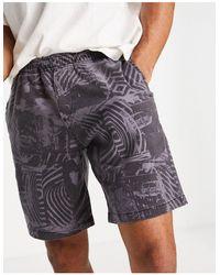 Deus Ex Machina Stackwaddy Beach Shorts With Print - Purple