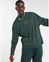 ASOS - Camiseta verde bosque extragrande - Lyst