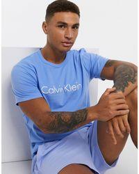 Calvin Klein - Синяя Футболка Для Дома -синий - Lyst