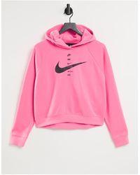 Nike – Kapuzenpullover mit Swoosh-Logo - Pink