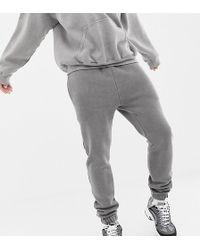 Reclaimed (vintage) - Inspired Overdye jogger In Grey - Lyst