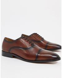 River Island Smart Oxfords With Toe Cap - Brown