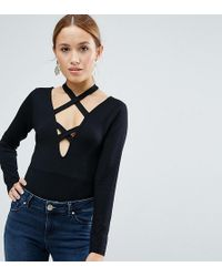 ASOS - Body With Long Sleeve And Caging - Lyst