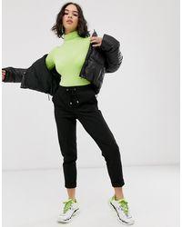 Bershka Tie Waist jogger - Black