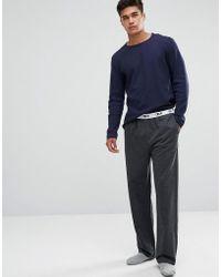 ASOS - Asos Straight Leg Jersey Pyjama Bottom With Branded Waistband - Lyst