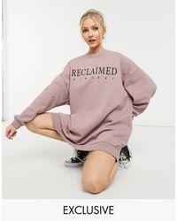 Reclaimed (vintage) Inspired Logo Sweatshirt Dress - Purple
