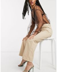 & Other Stories Organic Cotton Straight Leg Trousers - Natural