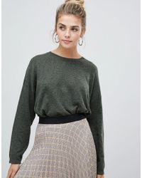 Bershka - Loose Fit Jersey Knitted Sweater - Lyst
