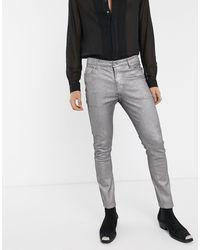 ASOS Super Skinny Jeans - Metallic