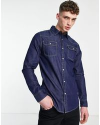 Criminal Damage Denim Shirt - Blue