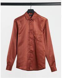 ASOS Camisa color bronce - Naranja