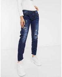 G-Star RAW – Arc 3d – Tief sitzende Boyfriend-Jeans - Blau