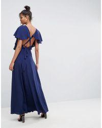 ASOS - Soft Ruffle Wrap Front Maxi Dress - Lyst