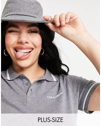 Collusion Plus Crop Polo - Gray