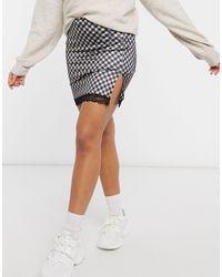 Motel Mini A-line Skirt - Black