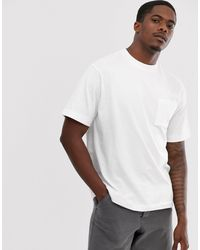 Pull&Bear Relaxed Fit T-shirt - White