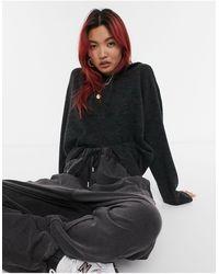 Vero Moda Knit Hoodie - Grey