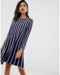 MAX&Co. Knitted Swing Dress - Blue