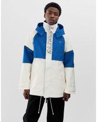 Lacoste L!ive Lacoste L!ve Logo Retro Jacket - White
