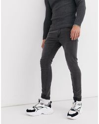 Only & Sons - Jeans super skinny lavaggio grigio - Lyst
