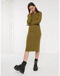 Noisy May Maxi Knitted Sweater Dress - Green