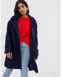Vila Wool Coat - Blue