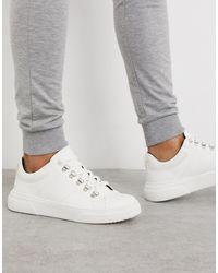 TOPMAN Chunky sneakers blancas - Amarillo