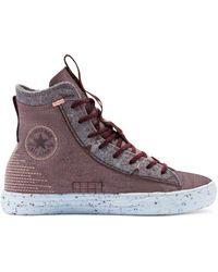 Converse Chuck Taylor - Hoge All Star Sneakers Van Kraterschuim - Rood