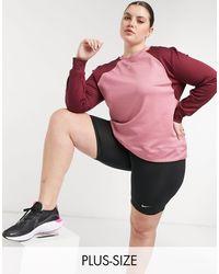 Nike Розовый Свитшот С Круглым Вырезом Plus Therma-розовый Цвет