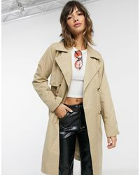 SELECTED Femme Double Breasted Trench Coat - Natural