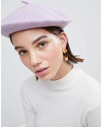 ASOS Béret en laine - Violet