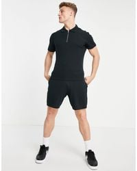 Jack & Jones Originals Co-ord Ribbed Short - Black