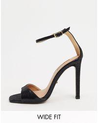 TOPSHOP Wide Fit 2 Part Sandal - Black