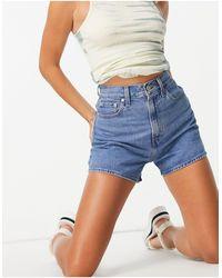Levi's Pantaloncini di jeans ampi a vita alta - Blu