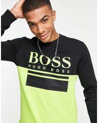 BOSS by Hugo Boss Athleisure - Salbo - Felpa slim - Multicolore
